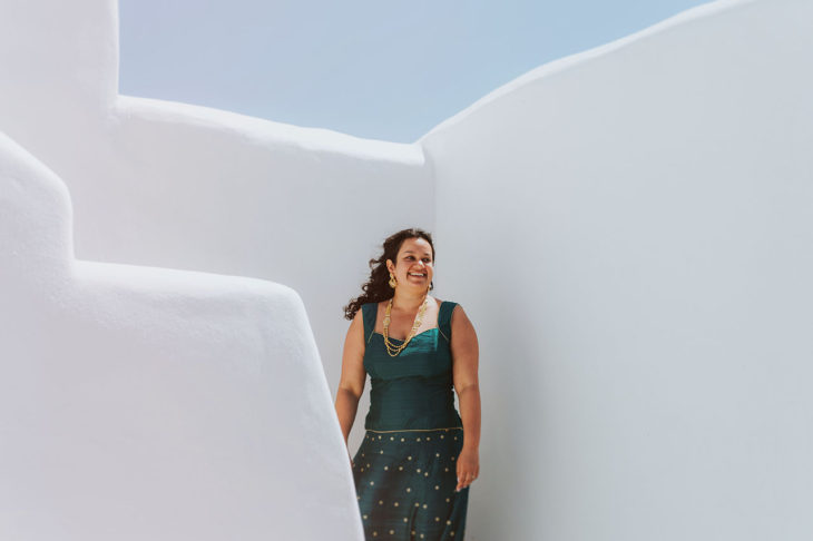 Mykonos wedding photographer Tinos Greece Diles Rinies Indian bride