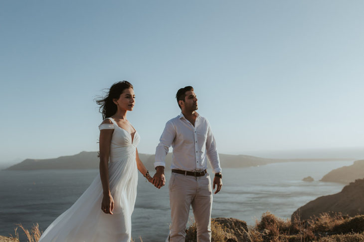 Santorini engagement
