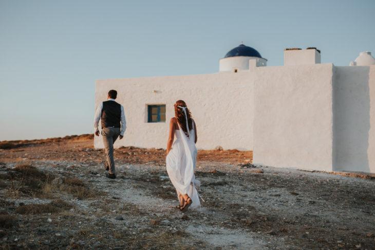 Sifnos Wedding elopement photographer Greece greek islands white chapel