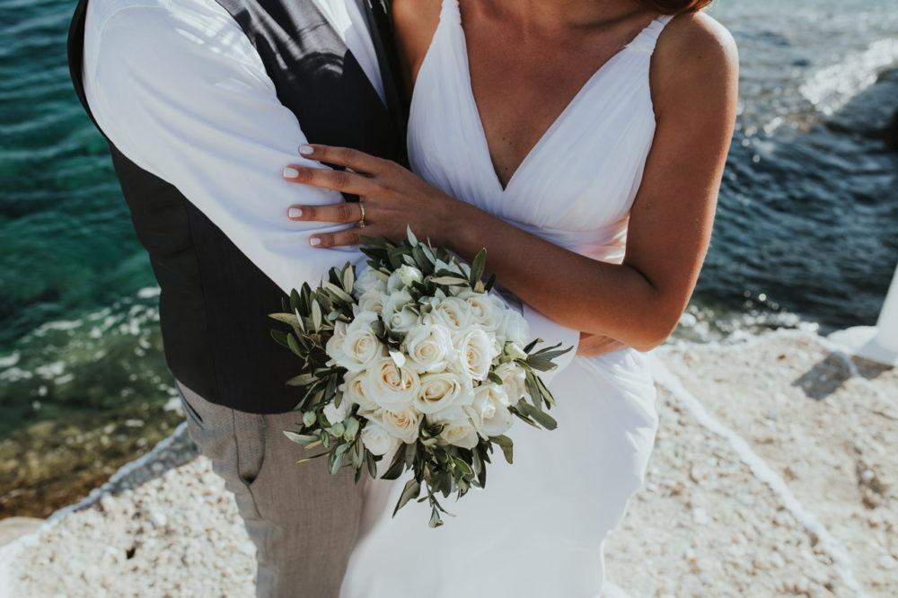 Sifnos Wedding elopement photographer Greece wedding bouquet
