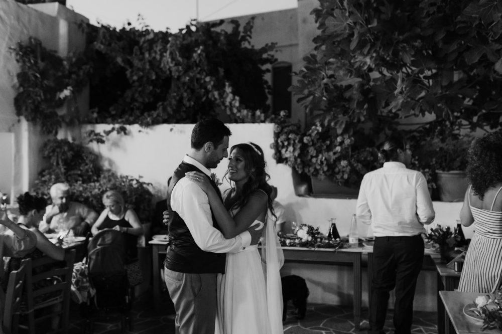 Sifnos Wedding elopement photographer Greece first dance