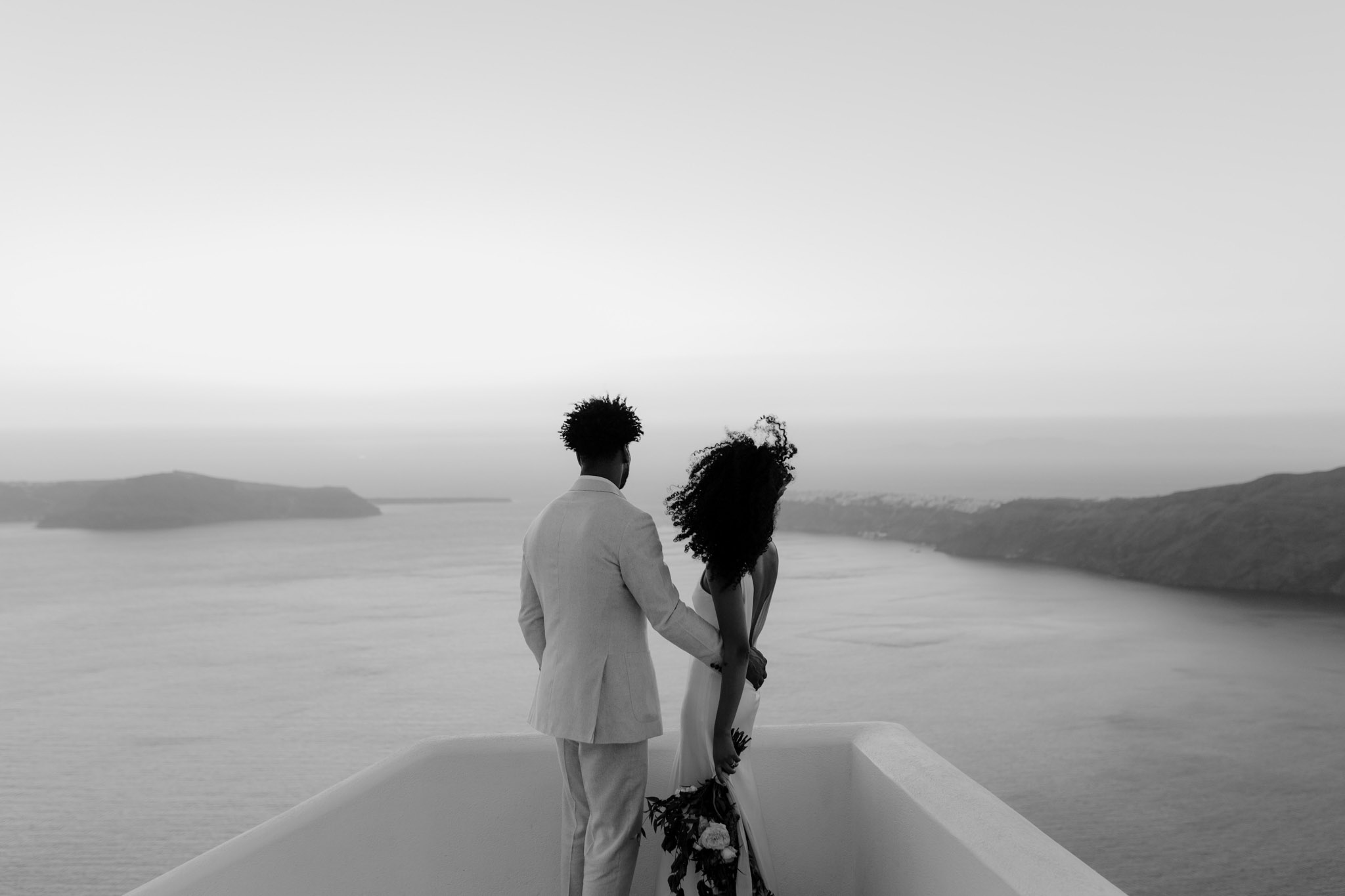 Santorini Wedding Photographer Elopement A La Robe Spina Bride NYC Betty Flowers Santorini Imerovigli