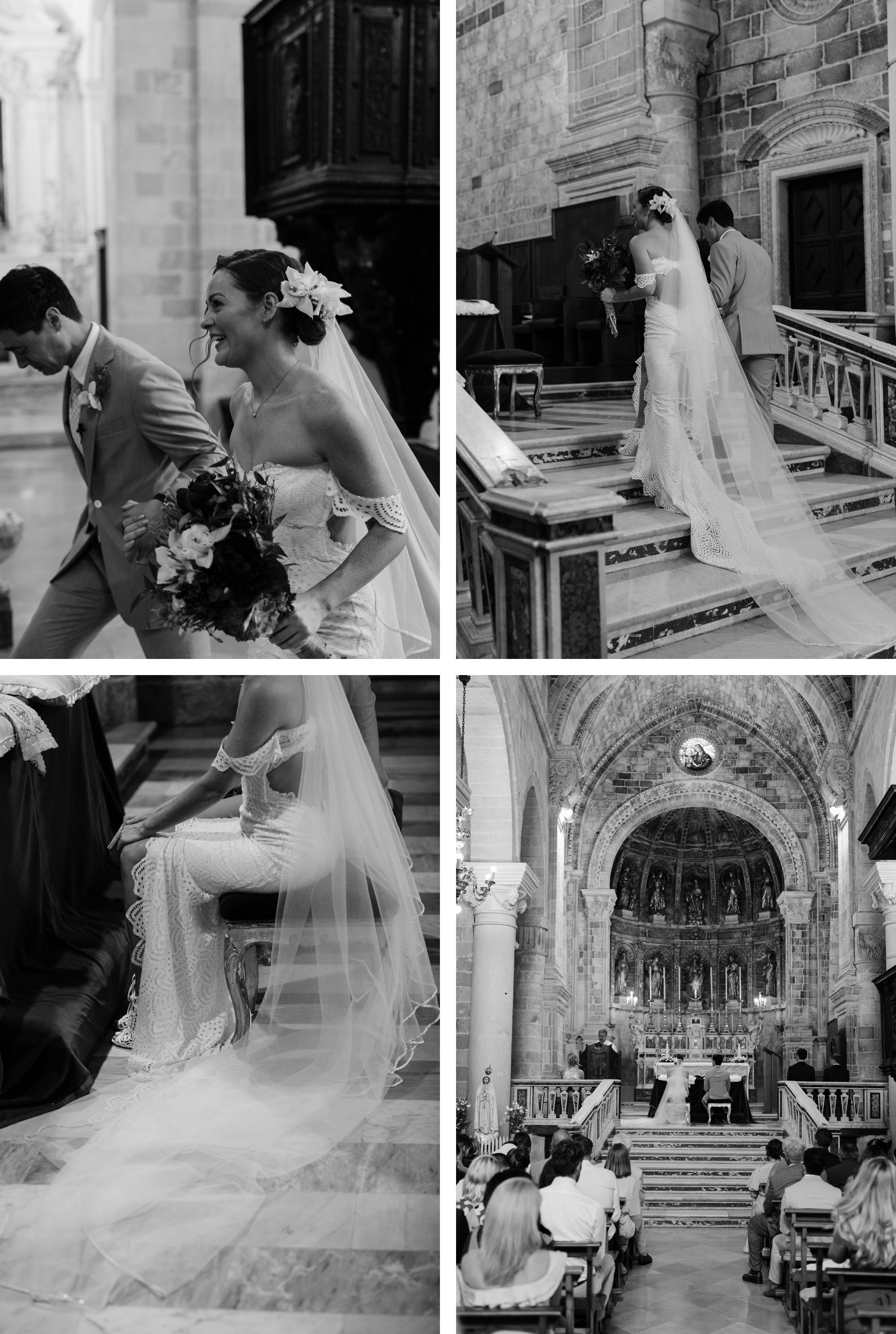 Puglia Wedding Photographer Masseria Potenti Maduria Church wedding Grace Loves Lace bride