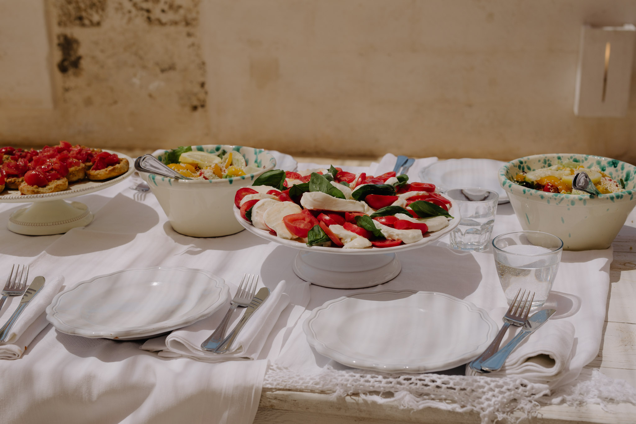 Puglia Wedding Photographer Masseria Potenti Italian food