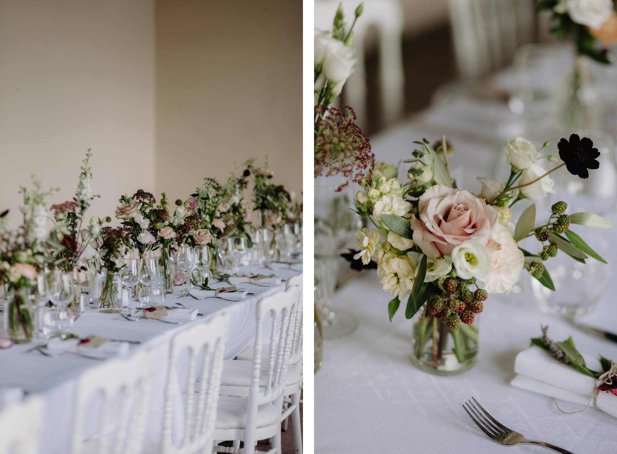 Lyon Wedding Photographer Chateau de montplaisant wedding reception menthe sauvage florist