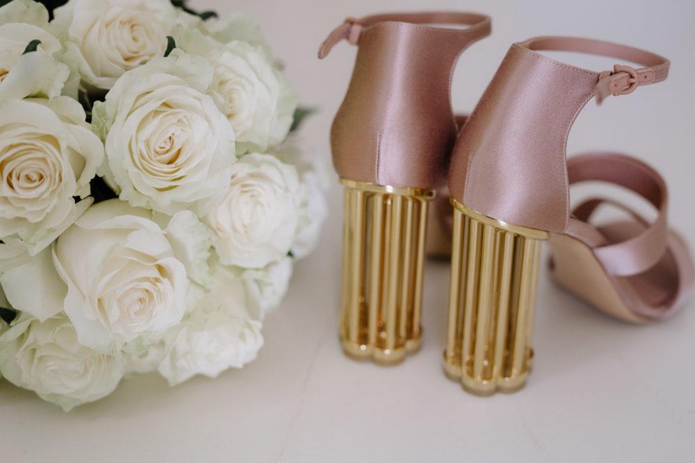 Sifnos Wedding Photographer Salvatorre Ferragamo bridal shoes