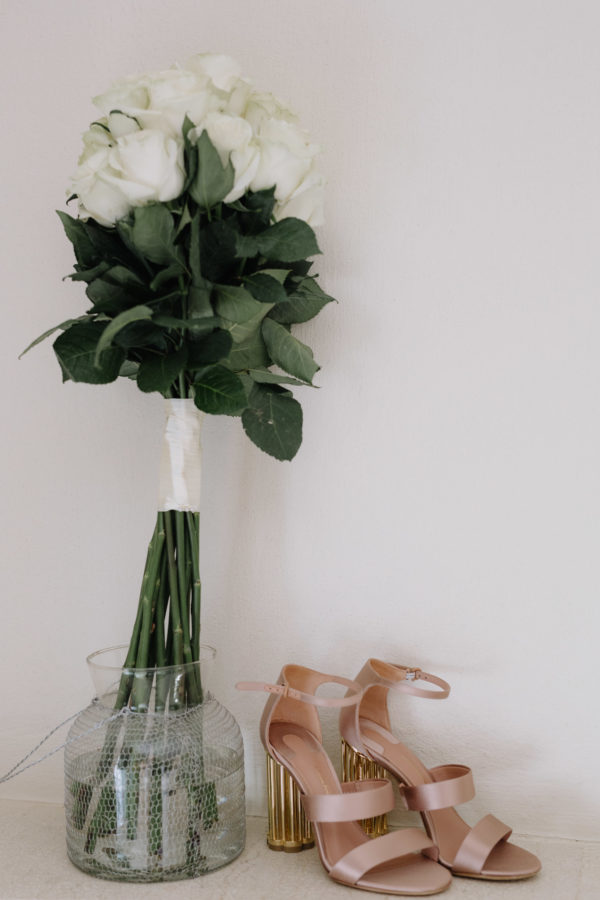 Sifnos Wedding Photographer Salvatore Ferragamo bridal shoes